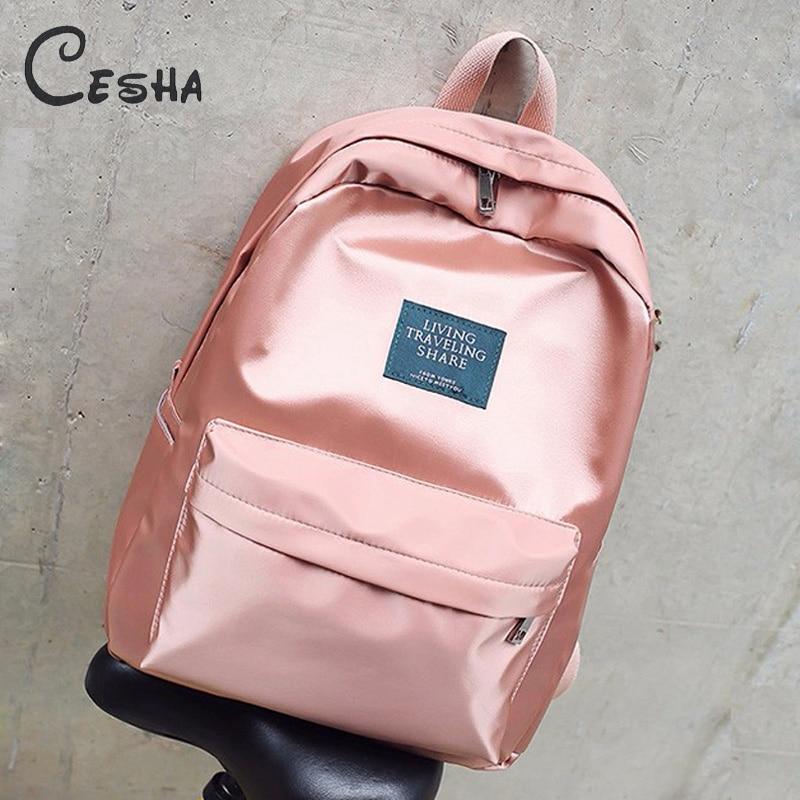 Fashion Brilliant Women Travel Backpack High Quality Waterproof Nylon School Bag Pretty Style Girls Shoulder Bag School Backpack