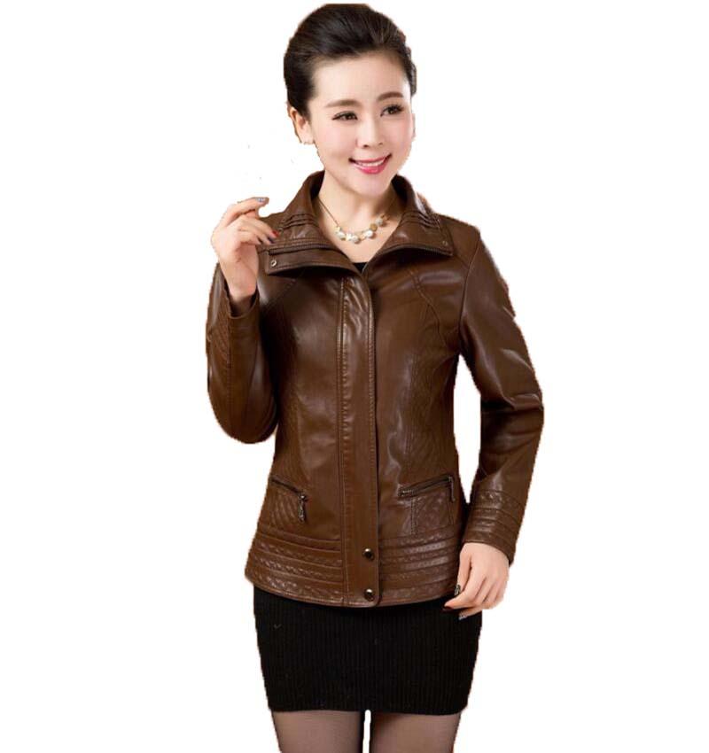 Online Get Cheap Brown Leather Coats for Women -Aliexpress.com ...