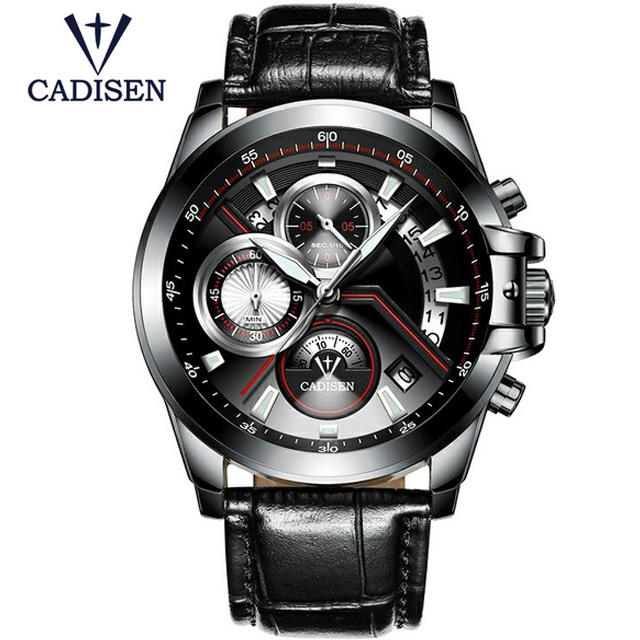 2017 CADISEN Top Brand Fashion Men's Watches Casual Pilot Military Sport Quartz Wrist Watches Male Clock Relogio Masculino Gift xinge top brand luxury leather strap military watches male sport clock business 2017 quartz men fashion wrist watches xg1080