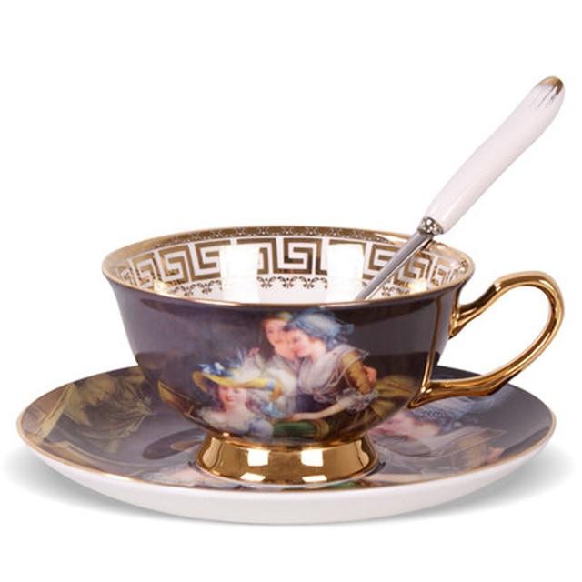 Vintage Keuken Accessoires.Fashion Keuken Accessoires Koffiekopje En Schotel Keramische Thee Cup Vintage Europese Stijl Porselein Cups Zcp 503