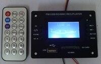 Mp3 디스플레이 디코더 보드 12 볼트 무선 원격 삽입 U 디스크 SD 카드 재생 USB/MMC REC/플레이어 3 음악