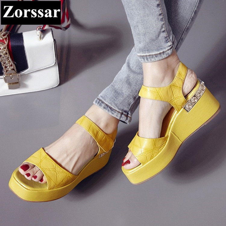 BIG SIZE 34-42 Summer Women shoes wedges High heels platform Casual sandals 2017 Fashion leather women's heels pumps shoes phyanic 2017 gladiator sandals gold silver shoes woman summer platform wedges glitters creepers casual women shoes phy3323