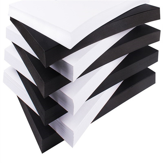 50 Pieces A4 Black White Thick Hard Cardboard Origami DIY Greeting Card Photo Album Card Scrapbook Materials Drawing Decor Paper