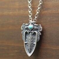 2019 new fashion jewelry s925 pure silver arrows natural stone Pendant Thai silver jewelry