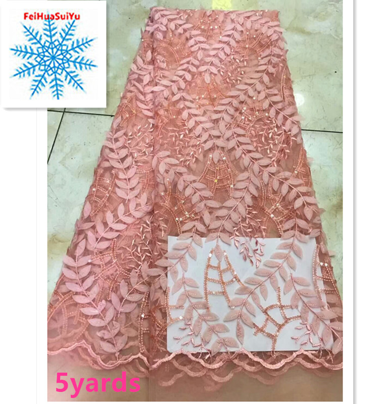 African 3D lace fabric 2018 high quality african French tulle lace fabric with sequins guipure nigerian lace fabrics    DPJ072African 3D lace fabric 2018 high quality african French tulle lace fabric with sequins guipure nigerian lace fabrics    DPJ072