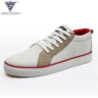 WEST SCARP Men Shoes Casual Man Flats Spring Autumn Breathable Fashion Classic Men Canvas Shoes Brand