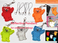 5pcs bear cell phone pendant bag pendant accessories reflective keychain for visibility safety free shipping.jpg 200x200
