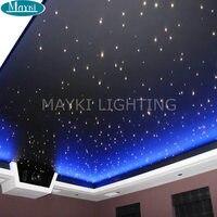 Maykit 45 Вт светодио дный волоконно оптический свет 7 м 0,75 мм 1100 шт. DIY Kit Fibra оптика конец свечение осветитель РФ дистанционного Управление 10 шт.