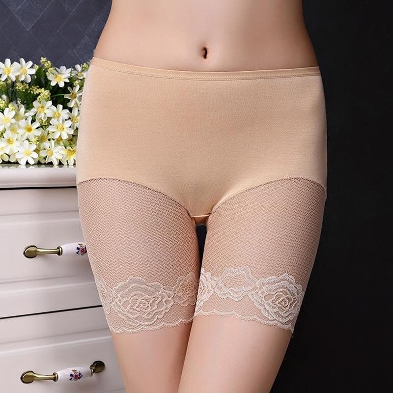 Sexy Spitze Ultra-dünne Frauen Shorts Dünne Elastische Taille Sichere Shorts Sommer Tasche Frauen Heiße Kurze Hose Pantalon Femme Höschen Damen-dessous