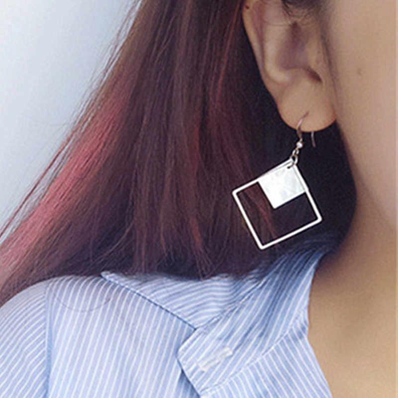 ES960 Shell Drop Earrings Women Minimalist Punk Dangle Earring Brincos Geometric Bijoux pendientes mujer 2018 Fashion Jewelry