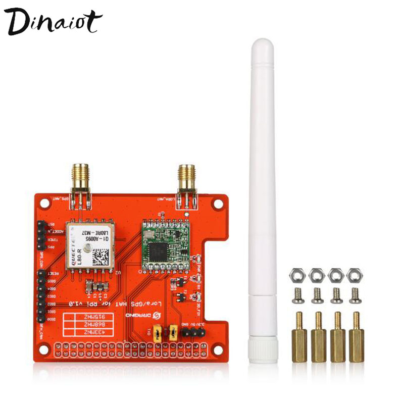 LoRa GPS HAT Expension Module For LoRaWan And GPS Compatible With Raspberry Pi 2/3 Model B LoRaWAN Gateway
