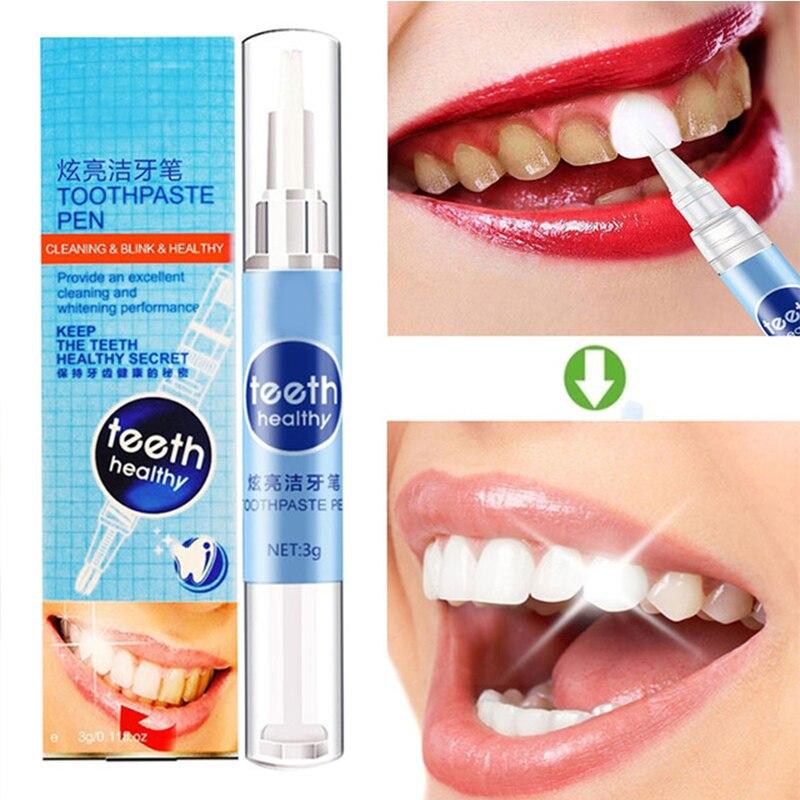 1 Pcs White Teeth Whitening Pen Portable Stains Removing Tooth Oral Hygiene Stains Removing Toothpaste Pen