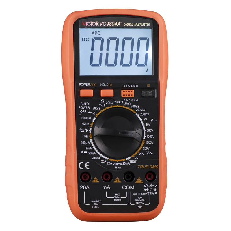 Digits Multimeter  2000 Counts Victor VC9804A+ AC DC Voltmeter Capacitance Resistance digital Ammeter Multitester ammeter multitester 2000 counts resistance capacitance inductance temperature victor digital multimeter vc9805a