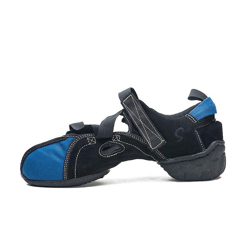 Original Sansha Sandal Dance Sneakers Unique Design Fancy Dancing Sneakers For Summer Men Canvas Black Blue