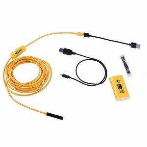 Image 3 - F130 WIFI אנדוסקופ מצלמה 8mm עדשת HD1200P רך קשה חוט אלחוטי עמיד למים פיקוח borescope למחשב אנדרואיד IOS צהוב
