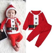 Rorychen/Новинка г.; хлопковая Рождественская Пижама с Санта-Клаусом для мальчиков; детская одежда для сна; детская Ночная одежда; детские пижамы