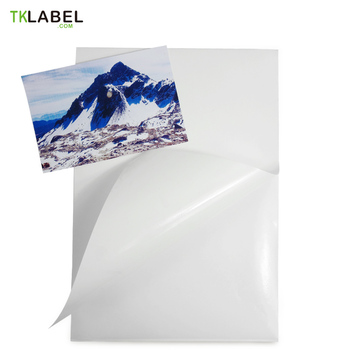 60 Sheets/Pack A4  white PVC label waterproof stickers for Mono/Color Laserjet printer High Glossy Surface