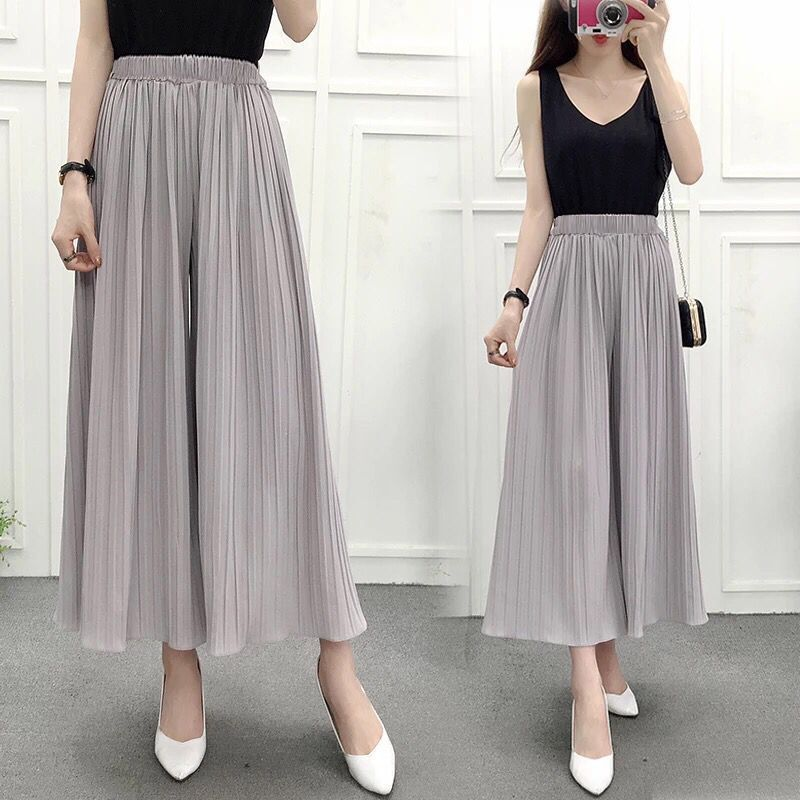 Summer   Pant   for Women   Wide     Leg     Pant   Chiffon Female Thin Loose Pantskirt Trousers Plus Size Ladies Culottes   Pants   Promotion