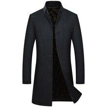 Winter Woolen Coat Men's Trench Coat for Men Thick Warm Wool Abrigo Hombre Overc