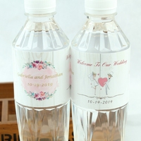 Personalized wedding logo Water Bottle Label Sticker Wrappers Baby shower Anniversary wedding decoration centerpieces