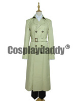 Supernatural Castiel Twill Trench Coat Cosplay Costume A006