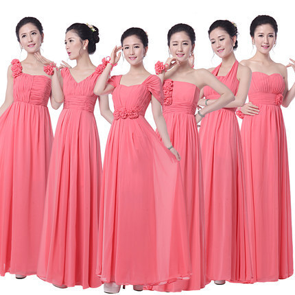 f39a7e59f23 Coral Bridesmaid Dresses To Party Long Formal Dresses Chiffon Royal blue  Prom Dresses Under  50 vestidos dama de honor Bandage