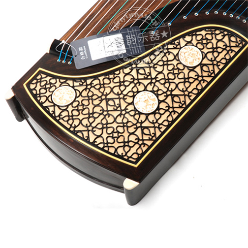 Chinese Guzheng Dunhuang 894KK Mahogany Zither Traditional Professional Musical Instruments dunhuang in focus