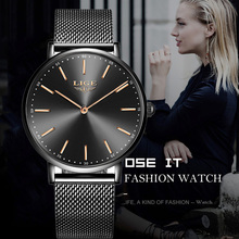 LIGE Ladies Gold Watch Brand Luxury Women Watches Waterproof Stainless Steel Quartz Ladies Wrist Watch Women Clock Montre Femme kezzi brand ceramic watches women bracelet watch analog display quartz movement waterproof wrist watch ladies montre femme gift
