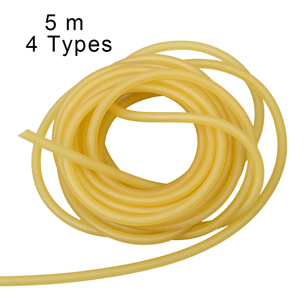 5m Rubber Tube Natural Latex Slingshot Tubing For Shooting Hunting Outdoor Sports Band Catapult Fitness Tactical Bow Accessories