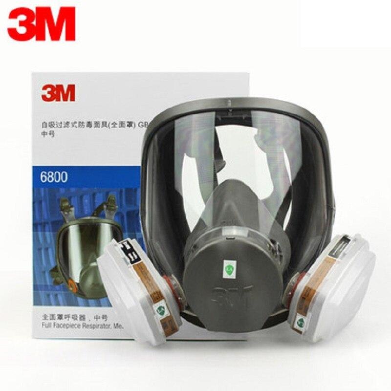 3 M 6800 masque à gaz masque facial complet 7 pièces ensemble de peinture en aérosol formaldéhyde pétrochimique organique/acide gaz masque de Protection