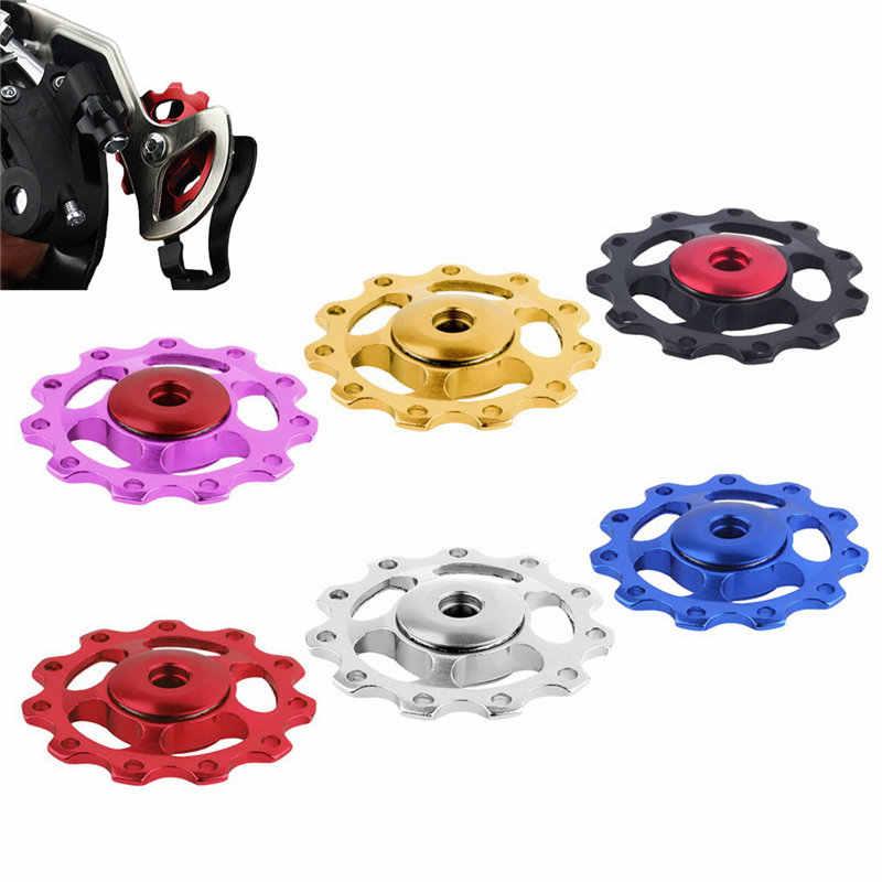 11 الأسنان الجبلية السيراميك تحمل عجلة شدادة بكرة الطريق دراجة دراجة Derailleur اكسسوارات الدراجة دليل الأسطوانة 5 مللي متر 6