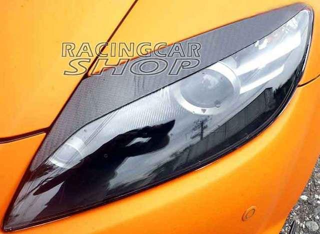 real carbon fiber headlight eyelids eyebrows for mazda rx 8 se3p jdm