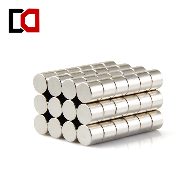 Free shipping 100pcs neodymium magnet cylinder 6x5mm N50 rare earth industrial strong magnets nickle 5pcs round circular cylinder 25 x 20 mm magnet rare earth neodymium 25 20 mm