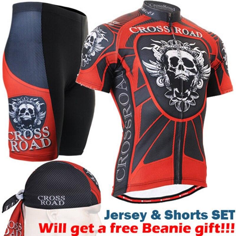 2017 sportful cycling sets Ropa Maillot Clothes skulls Mens Cycling Jersey Shorts suit mens base layer thermal