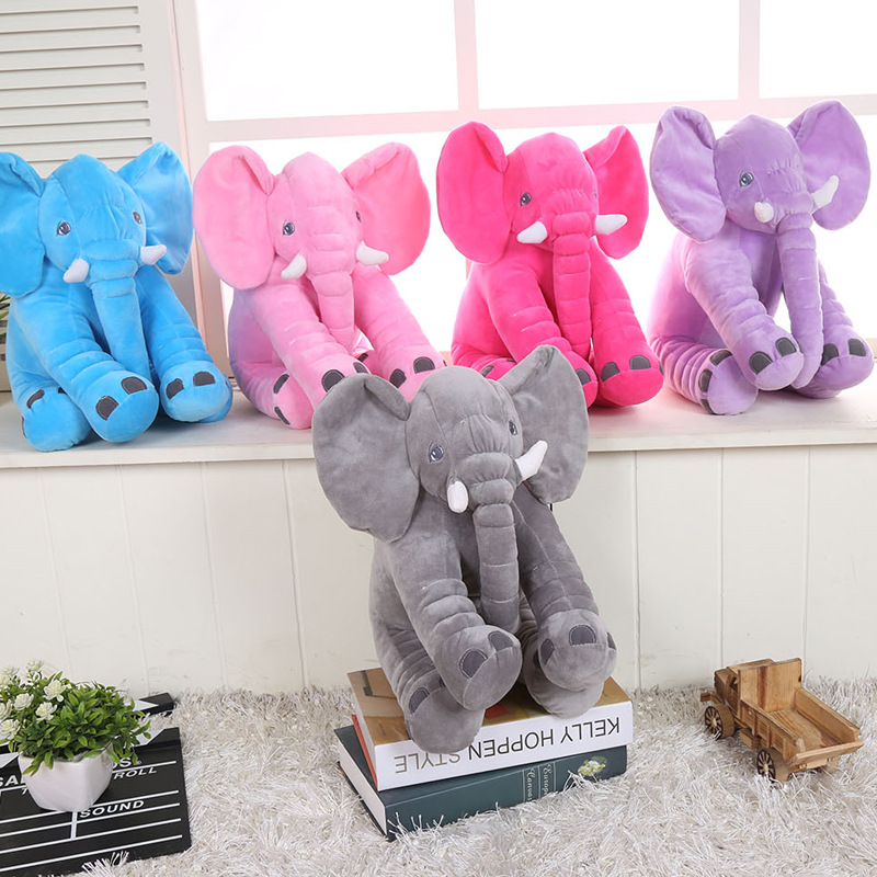 4Color Lovely Cartoon Elephant Plush Cotton Stuffed Dolls Baby Beding Toys Dolls Soft Sleeping Back Pillow Kids Birthday Gift 2015 new deluxe brand 100% high quality flat summer women knee high gladiator sandals genuine leather cut outs cover heel shoes