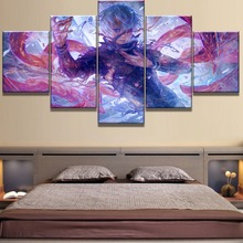 5 Piece Canvas Art Tokyo Ghoul Anime Poster Painting Wall Picture Home Decoration Living Room Painting(Frame)