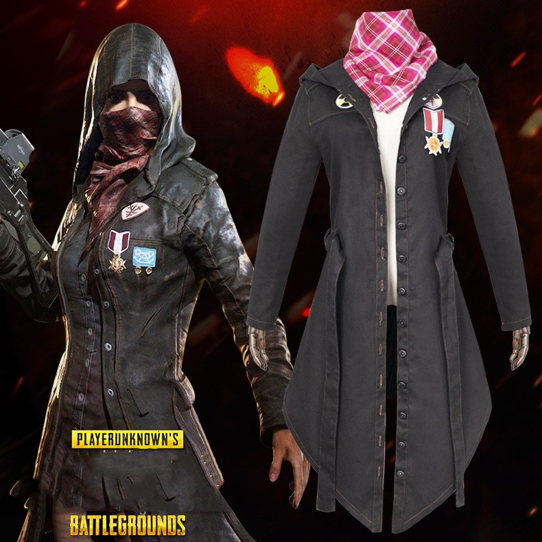 Battle Grounds Role Cosplay Cape Costume Tight Clothes Denim New Fashion Figure Gamer Cosplay Drop Ship