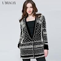 LXUNYI Handmade Beaded Blazer Jacket Women Blazers And Jackets High Quality High Street Fashions Chaquetas Suits Blazer Ladies