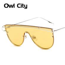 Fashion Oversized Cat eye Sunglasses Women Brand Designer Classic Retro Rose Gold Mirror Sun Glasses For Female Goggle UV400