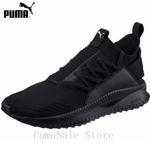 2f7af6506ba1 PUMA TSUGI JUN CUBISM Men And Women Knit Sock Shoes 365489 01 Ignite  Sneakers Black Color Woven Badminton Shoes Size Eur36-44