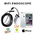 Frete grátis! WIFI IOS E Android Endoscópio Endoscópio Inspeção HD 1 M Câmera Cobra 9 MM