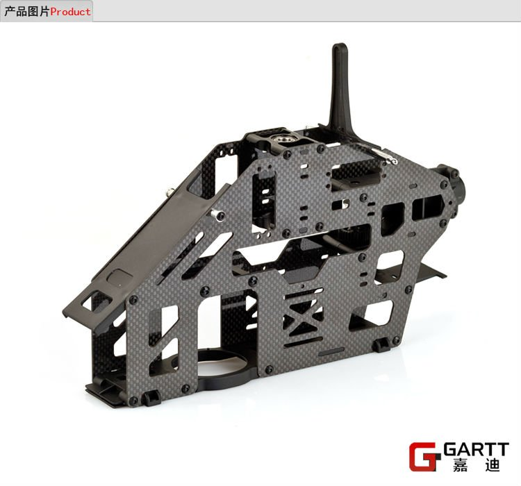 GARTT 500 belt version carbon fiber main frame assembly fits Align Trex 500 RC Helicopter цена