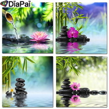 DIAPAI Diamond Painting 5D DIY Full Square/Round Drill Bamboo stone flower 3D Embroidery Cross Stitch Decor Gift
