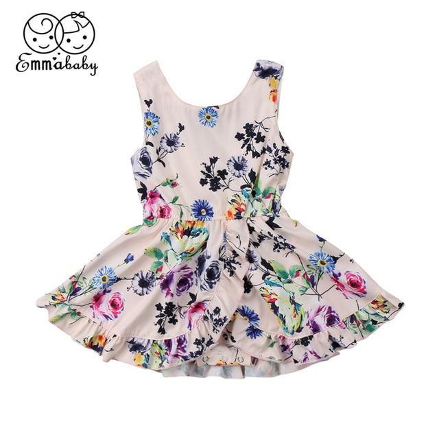 Vestido sin mangas de bebé niña 2018 nuevo bebé recién nacido vestido Floral Romper Venta caliente Vestidos de fiesta de desfile de verano tutú Vestidos