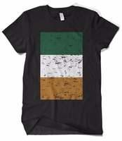 Summer Casual Printed T Shirt Men T Shirt Big Faded Ireland Flag Homme Breathable Clothing T