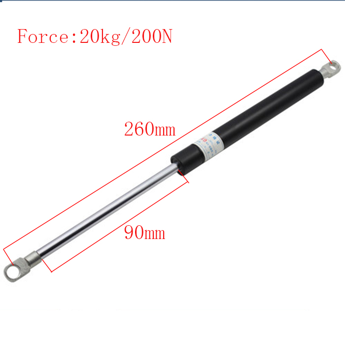 Gas spring Free Shipping Car Auto 200N Lbs Force Ball Studs Lift Strut Metal Gas Spring 260MM*90MM free shipping car gas spring 2 pcs lot