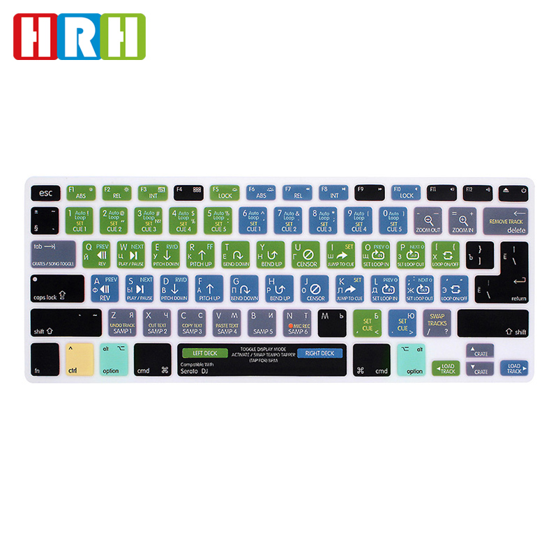 Clavier Portable Cover pour lair macbook Pro 13 Pouces 15 A1466 A1502 A1278 A1398 US Silicon Keyboard Cover Film de Protection Effacer