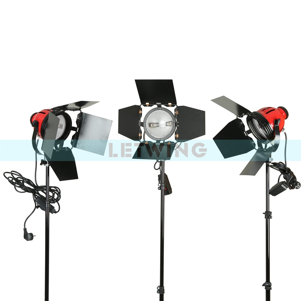 2x Red Head LED800W 800W Version 3200K Studio Video Light Kit With Dimmer And Heat Releasing Ring Continuous Lighting 110V ashanks 800w studio video red head light with dimmer continuous lighting bulb free shipping