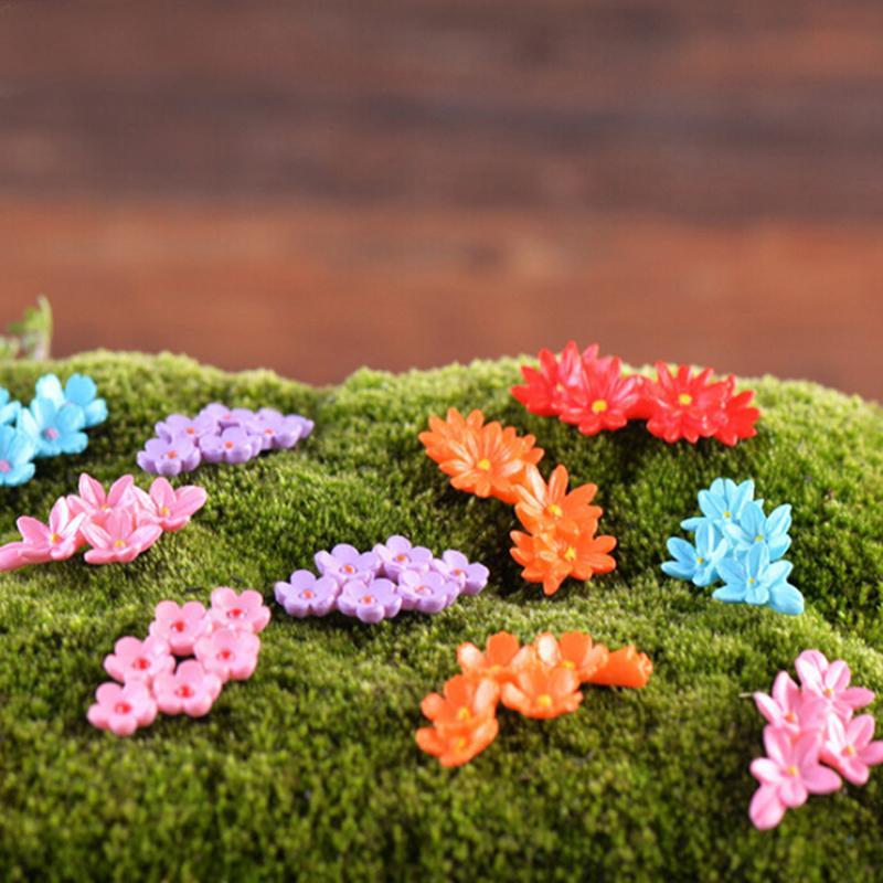 Yeni sıcak satış ev dekorasyon aksesuarları Kawaii çiçek minyatür bahçe süs Dollhouse saksı zanaat mikro manzara