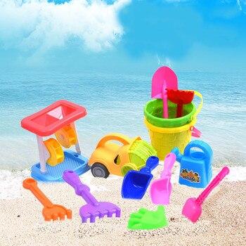 1PCS Children Beach Toy Car Set Outdoor Boy Baby Shovel Bucket Bucket Trumpet Playing Sand Tool Baby Beach Toys  Beach Games bracelet